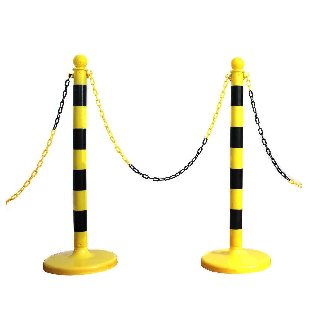 纯塑料挂链警示柱