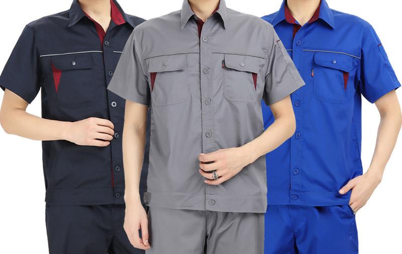 夏季短袖劳保工作服
