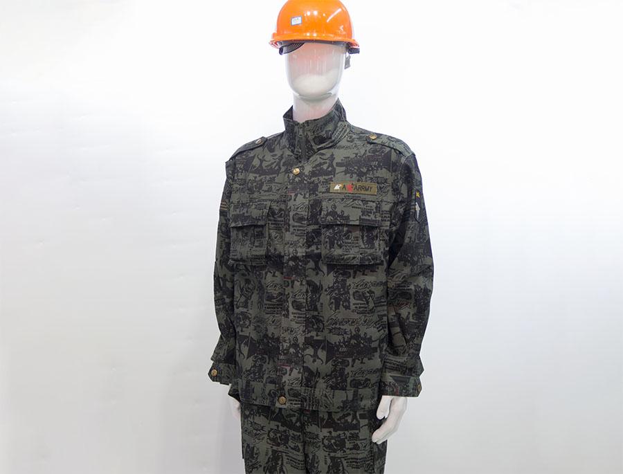 长袖迷彩工作服